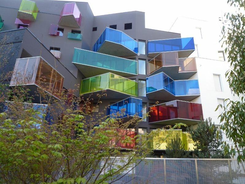 gekleurd glas raamfolie balkon