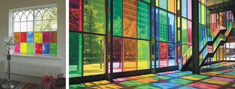 Gekleurd raamfolie